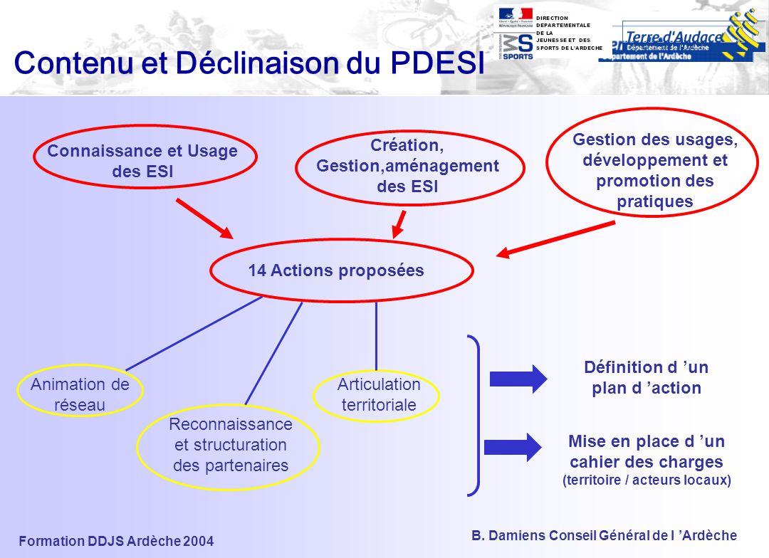Formation DDJS Ardèche 2004 B. Damiens Conseil Général de l 'Ardèche LE PLAN D 'ACTION (en cours de rédaction)