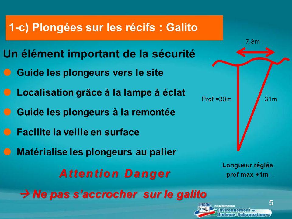 5 Un élément important de la sécurité  Guide les plongeurs vers le site  Localisation grâce à la lampe à éclat  Guide les plongeurs à la remontée 