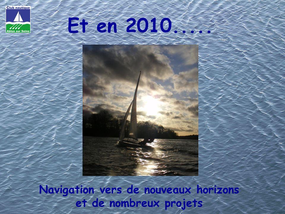 Navigation vers de nouveaux horizons et de nombreux projets