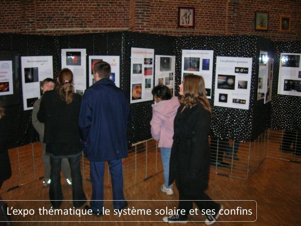 L'expo thématique : le système solaire et ses confins