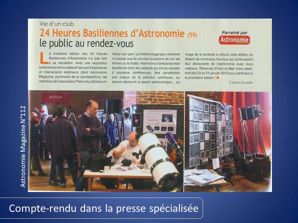 Compte-rendu dans la presse spécialisée Astronomie Magazine N°112