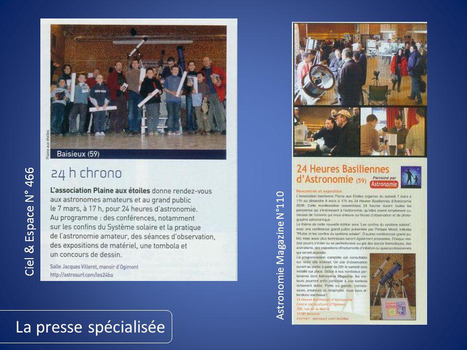 Astronomie Magazine N°110 La presse spécialisée Ciel & Espace N° 466