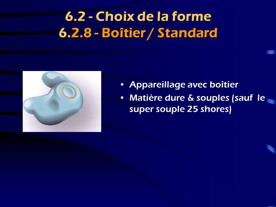 6.2 - Choix de la forme 6.2.6 - Porte-tube Embout très ouvert, seul le tube pénètre dans le CAE.