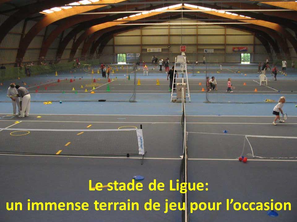 Le stade de Ligue: un immense terrain de jeu pour l'occasion
