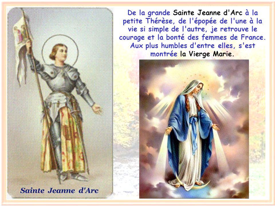 Ma patrie, bonne et pieuse, a vu naître de grands saints. Le sens missionnaire de Saint Bernard, la vertu de Saint-Louis, la charité de Saint Vincent