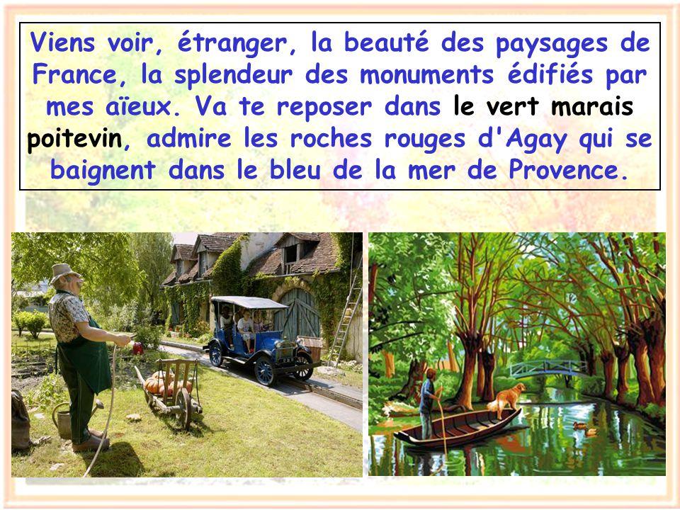 Ma patrie, c'est la terre de France où mes ancêtres ont vécu. Ma patrie, c'est cet héritage intellectuel qu'ils m'ont laissé pour le transmettre à mon