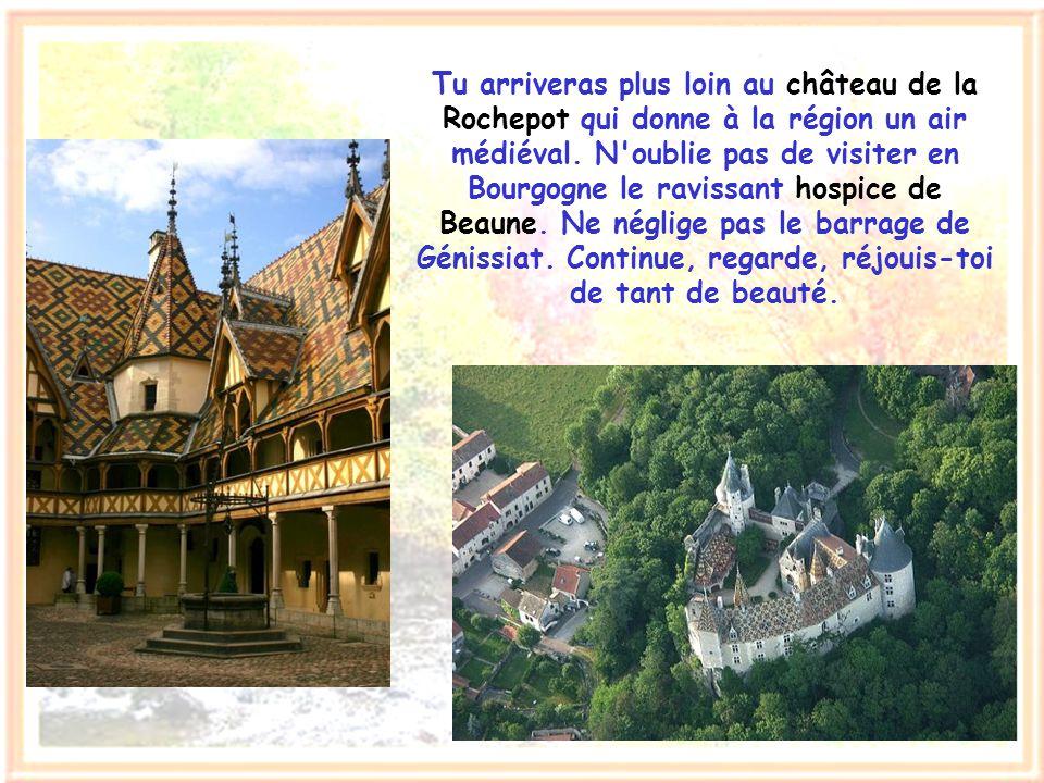 Chemine simplement de Paris vers Lyon. Sur la route, près d'Avallon, l'élégance raffinée de la basilique de Vézelay fera surgir pour toi l'épopée de n