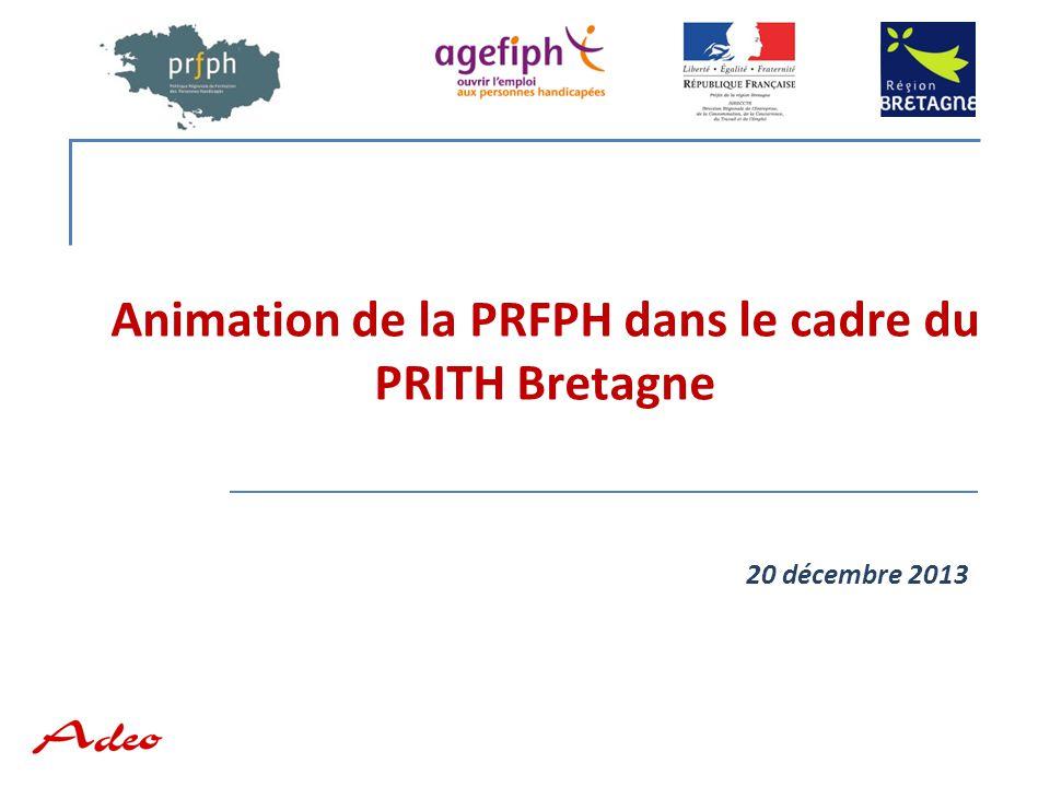 Animation de la PRFPH dans le cadre du PRITH Bretagne 20 décembre 2013