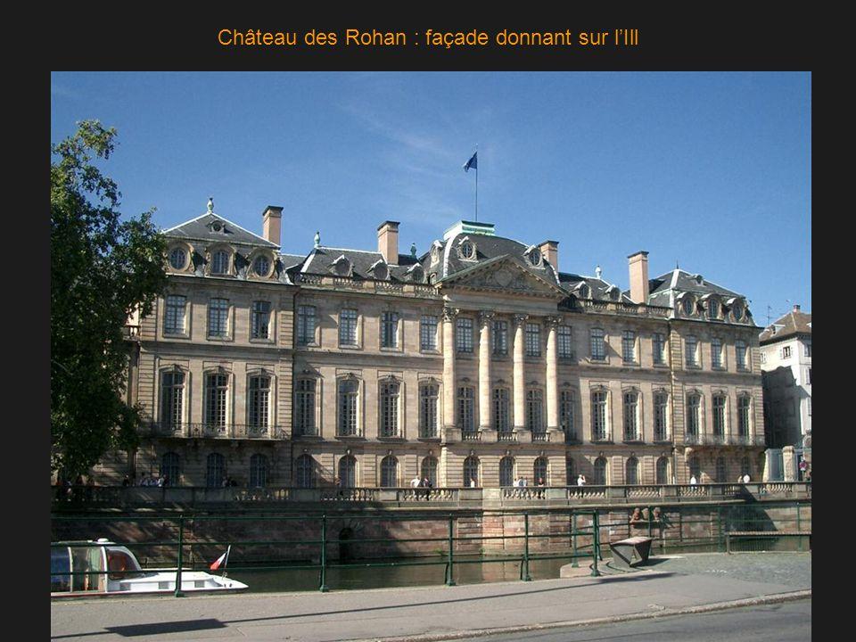 Château des Rohan : façade donnant sur l'Ill
