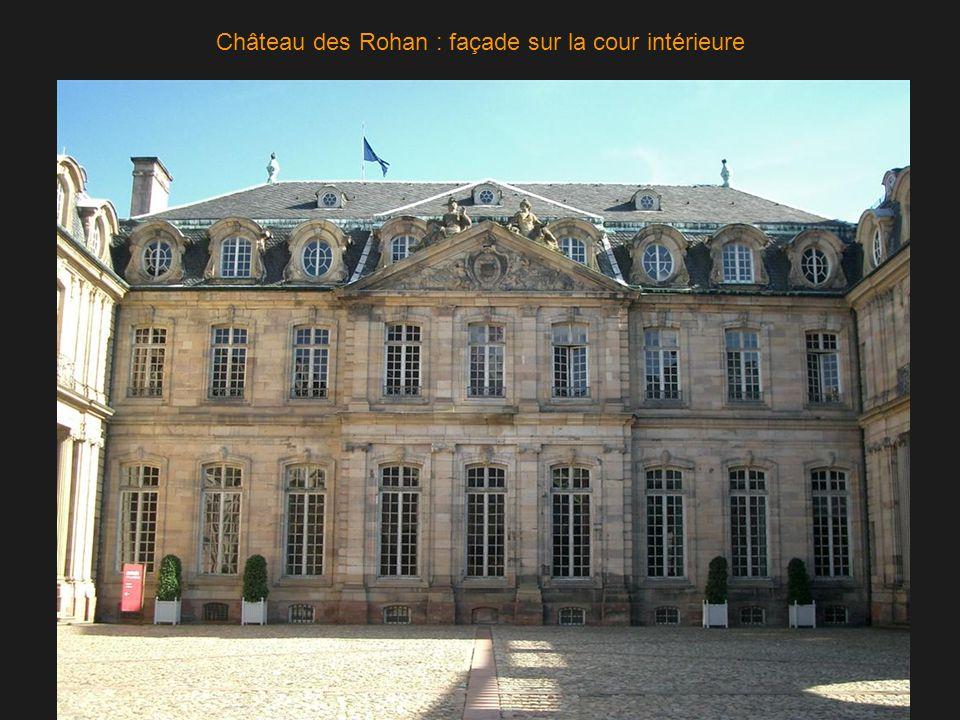 Château des Rohan : façade sur la cour intérieure