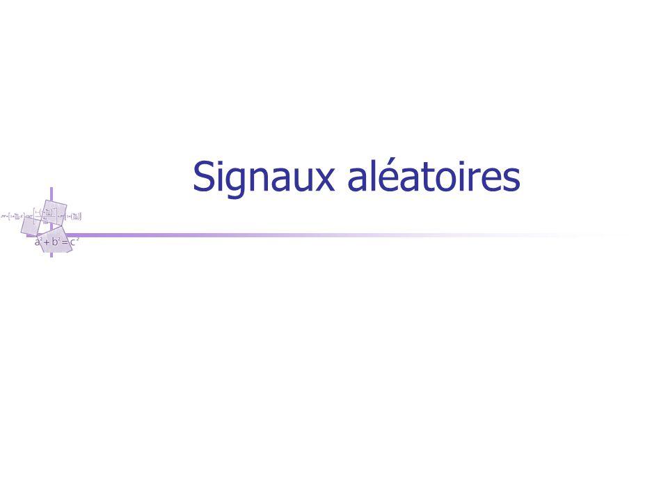 Signaux aléatoires