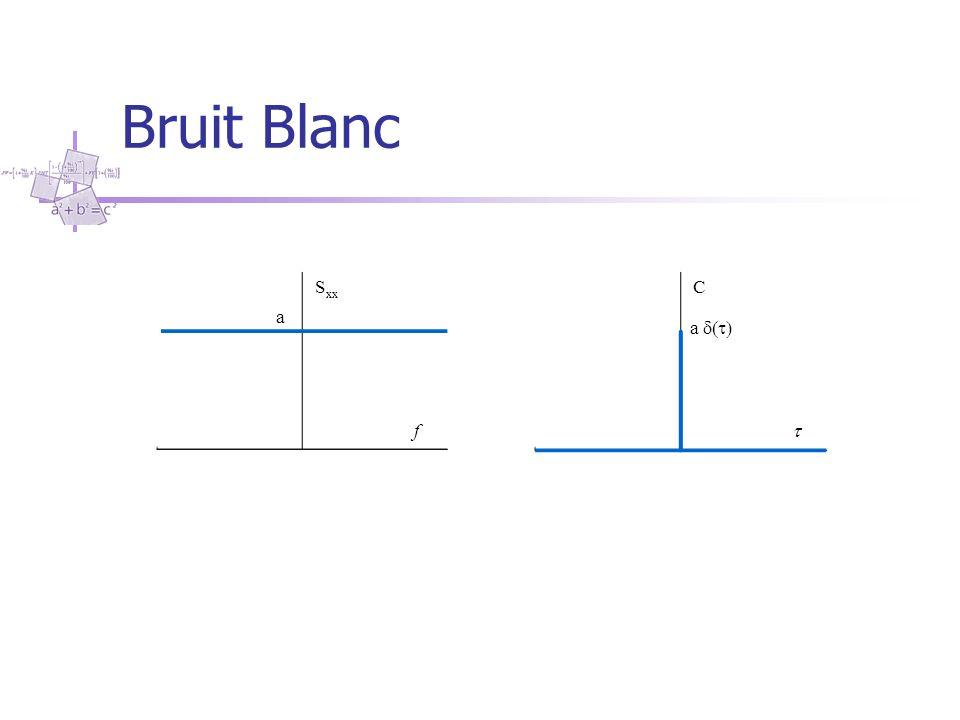 Bruit Blanc S xx f C  a  a