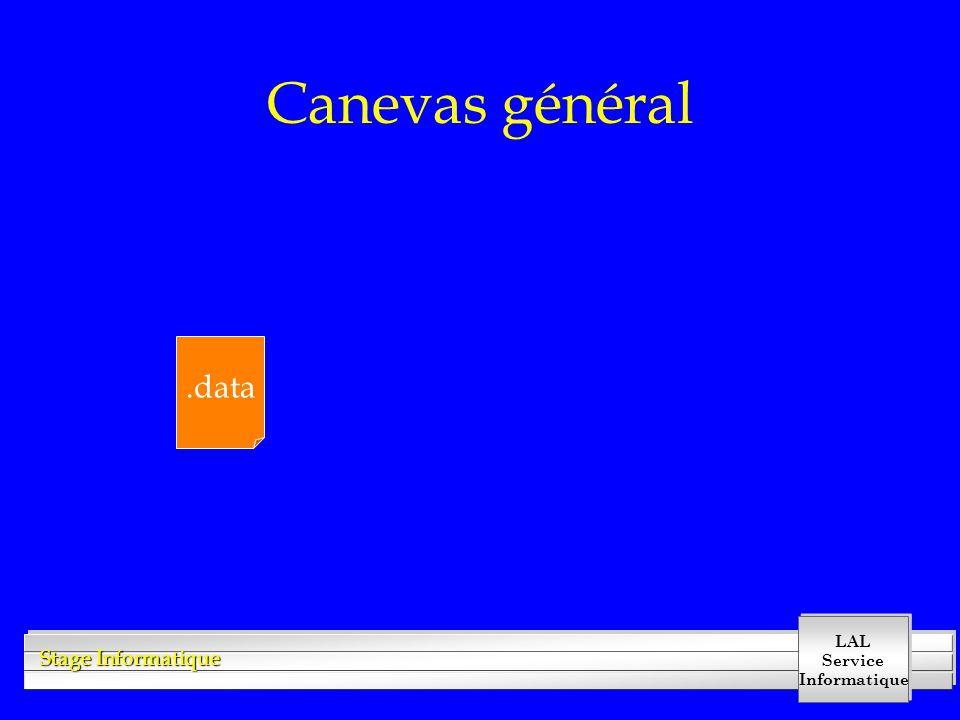 LAL Service Informatique Stage Informatique Canevas général.data