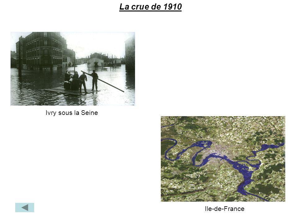 Ivry sous la Seine La crue de 1910 Ile-de-France