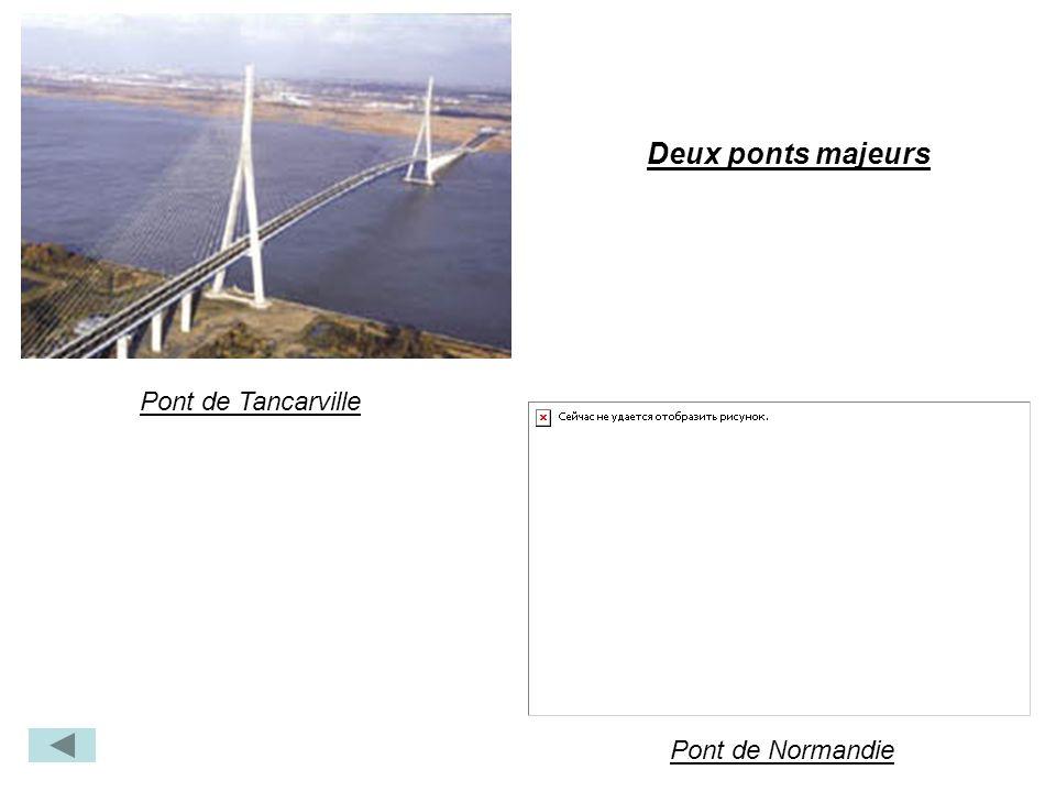 Pont de Tancarville Pont de Normandie Deux ponts majeurs