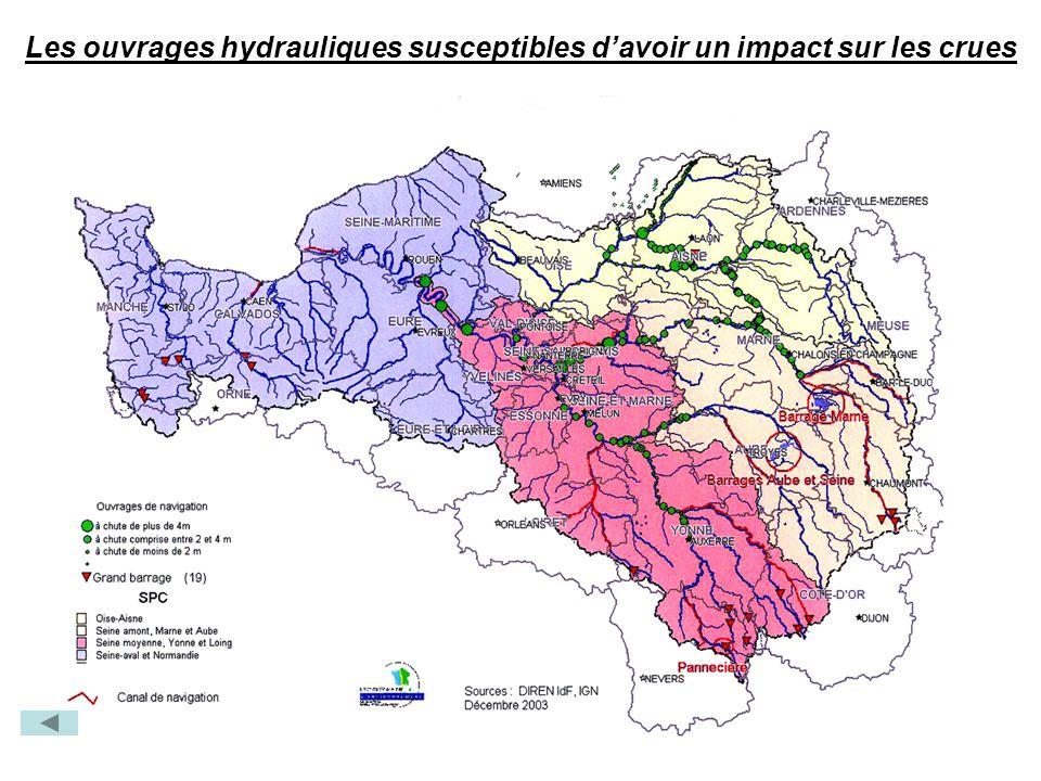 Les ouvrages hydrauliques susceptibles d'avoir un impact sur les crues
