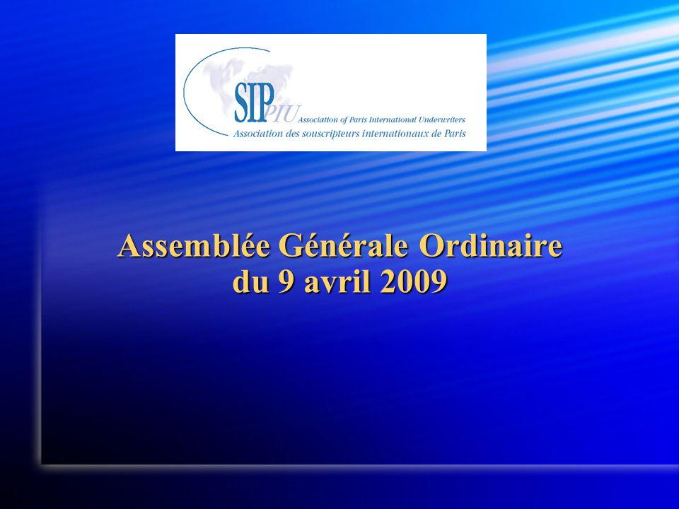 Assemblée Générale Ordinaire du 9 avril 2009