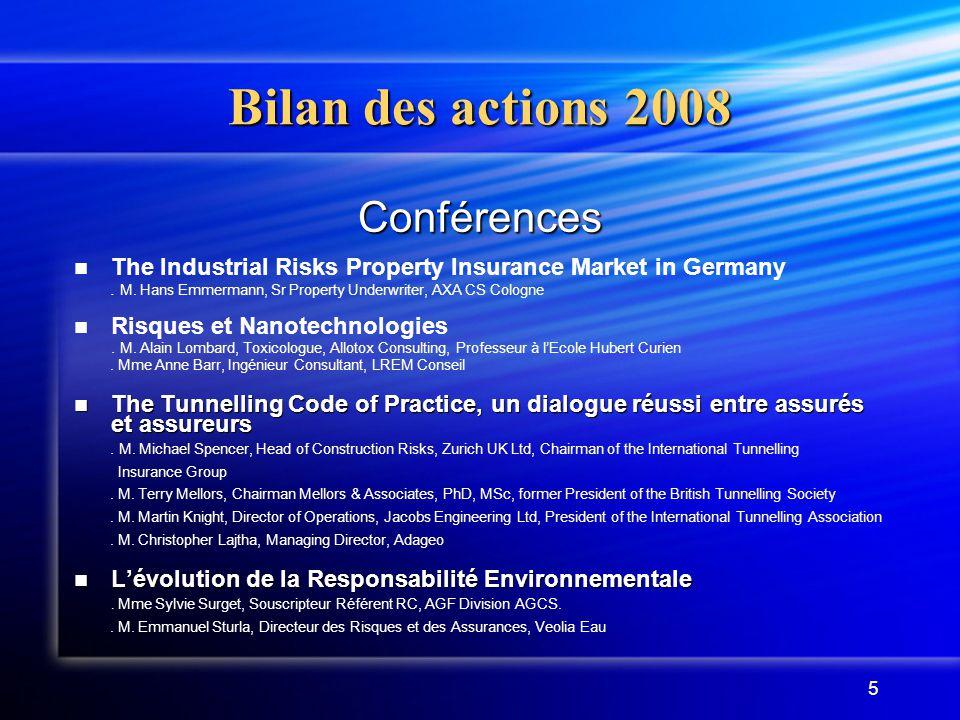 5 Conférences The Industrial Risks Property Insurance Market in Germany. M. Hans Emmermann, Sr Property Underwriter, AXA CS Cologne Risques et Nanotec