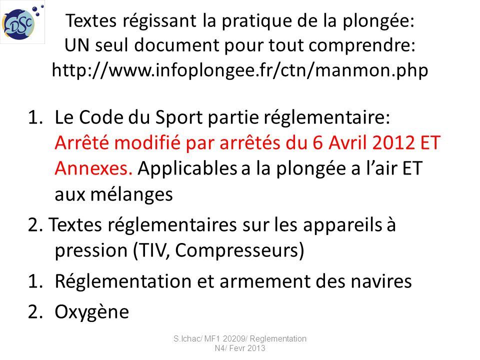 Le code du sport S.Ichac/ MF1 20209/ Reglementation N4/ Fevr 2013