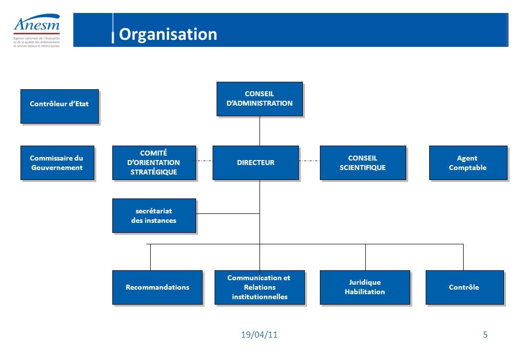 19/04/11 26 Le calendrier de l'évaluation (2) - Dérogation : les ESSMS autorisés et ouverts avant la promulgation de la loi du 21 juillet 2009 = au moins une évaluation interne au moins 3 ans avant la date de renouvellement.