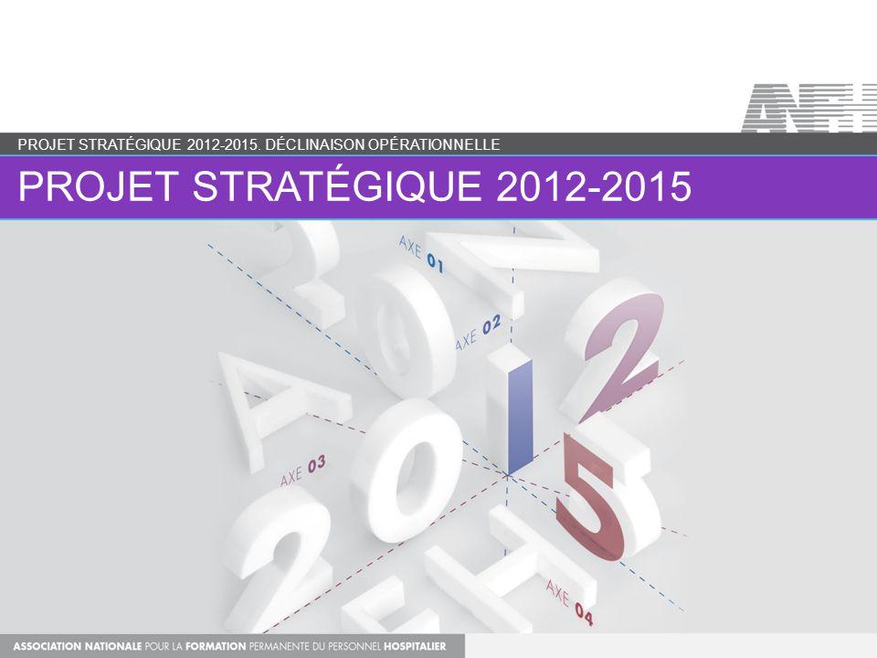 UN PROJET STRATÉGIQUE… PROJET STRATÉGIQUE 2012-2015.