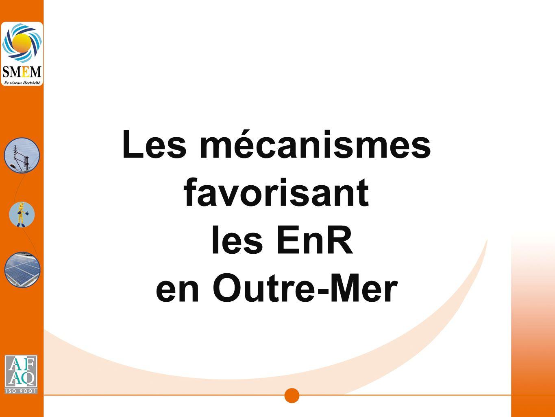 Les mécanismes favorisant les EnR en Outre-Mer
