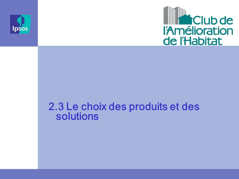 2.3 Le choix des produits et des solutions
