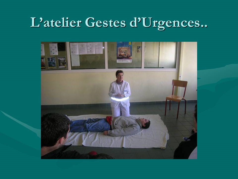 L'atelier Gestes d'Urgences..
