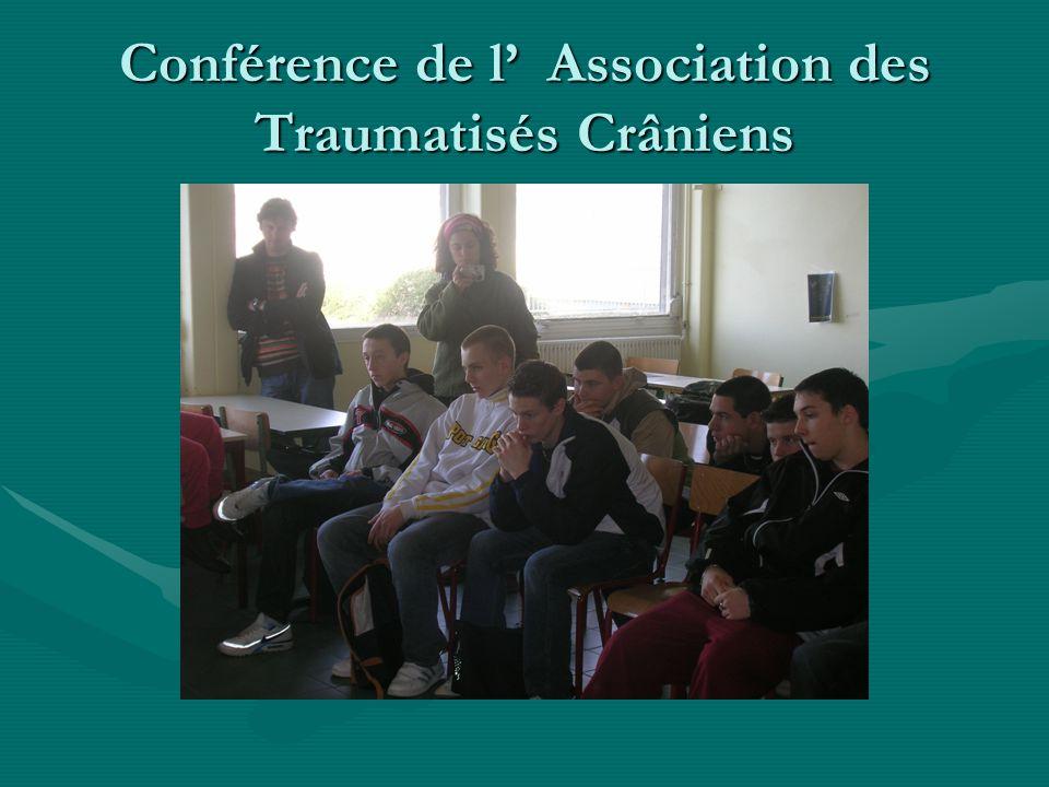 Conférence de l' Association des Traumatisés Crâniens
