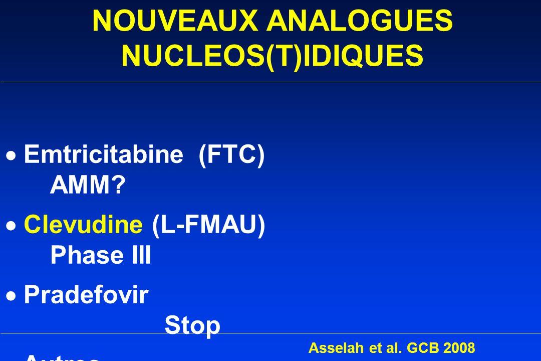 NOUVEAUX ANALOGUES NUCLEOS(T)IDIQUES  Emtricitabine (FTC) AMM.