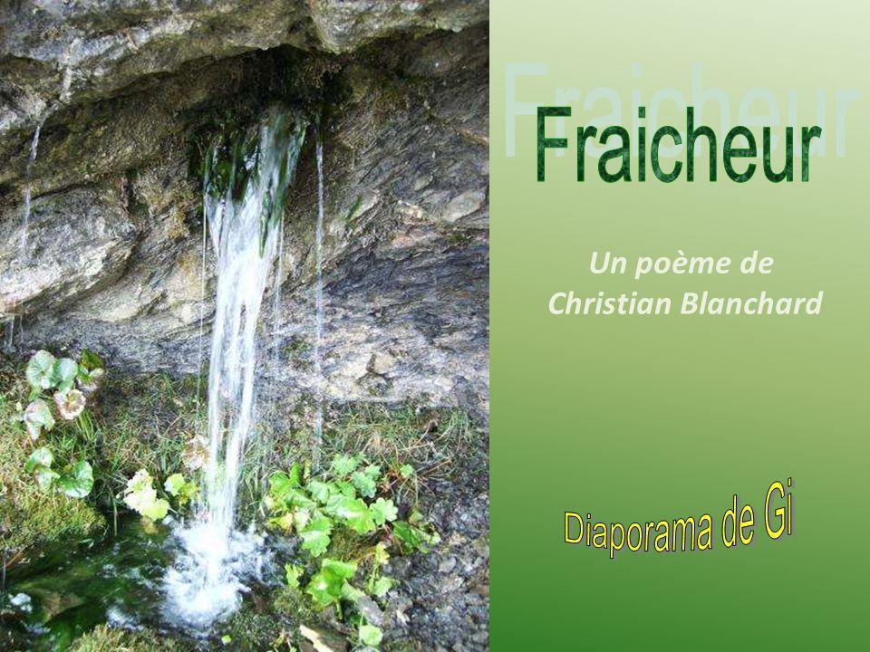 Un poème de Christian Blanchard