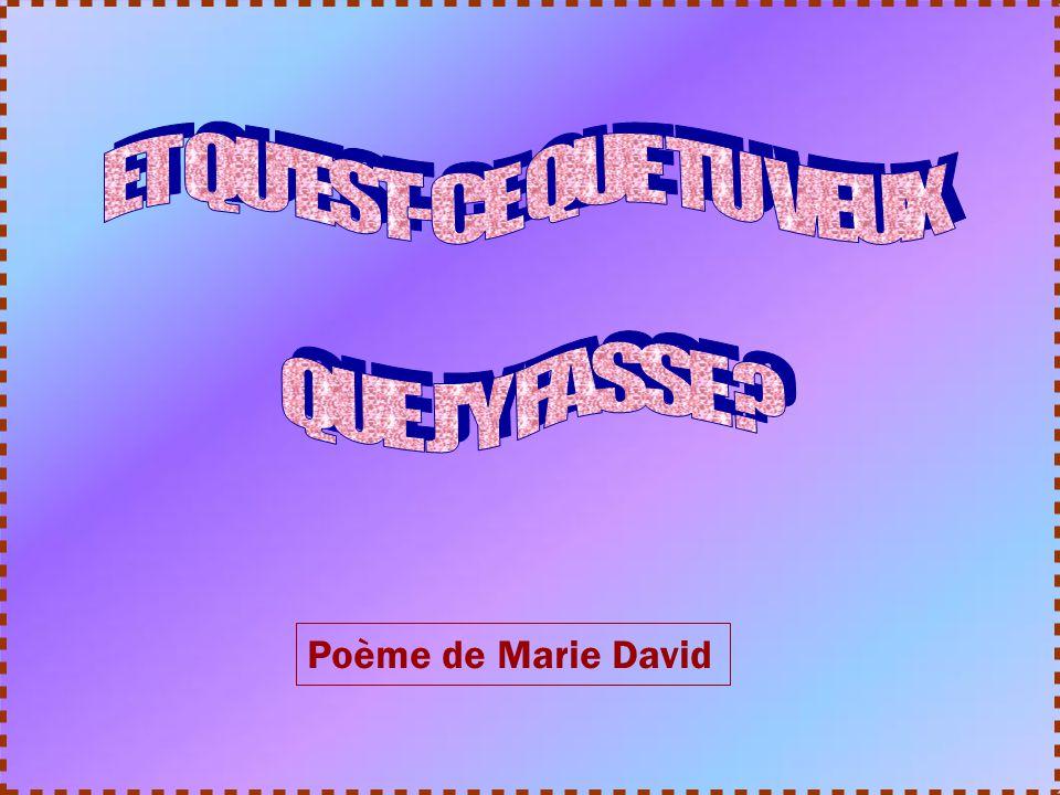 Poème de Marie David