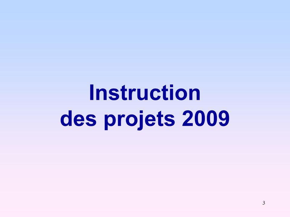 14 Description « thématique » des projets 2009