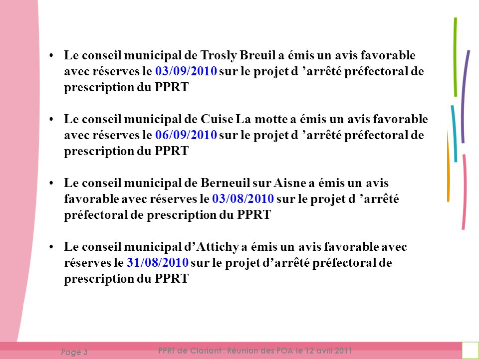 Page 14 PPRT de Clariant : Réunion des POA le 12 avril 2011 PPRT de Clariant Partie III Discussions
