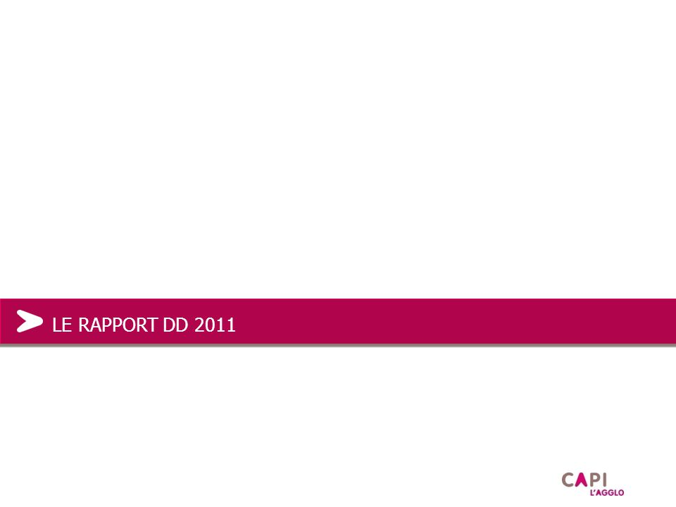 LE RAPPORT DD 2011