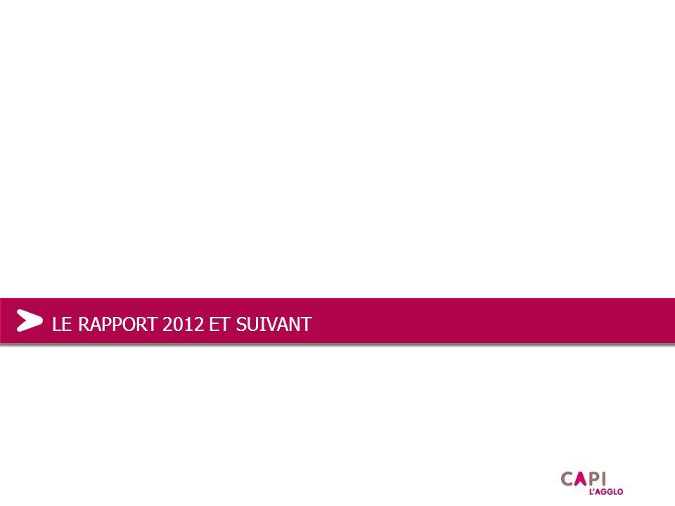 LE RAPPORT 2012 ET SUIVANT