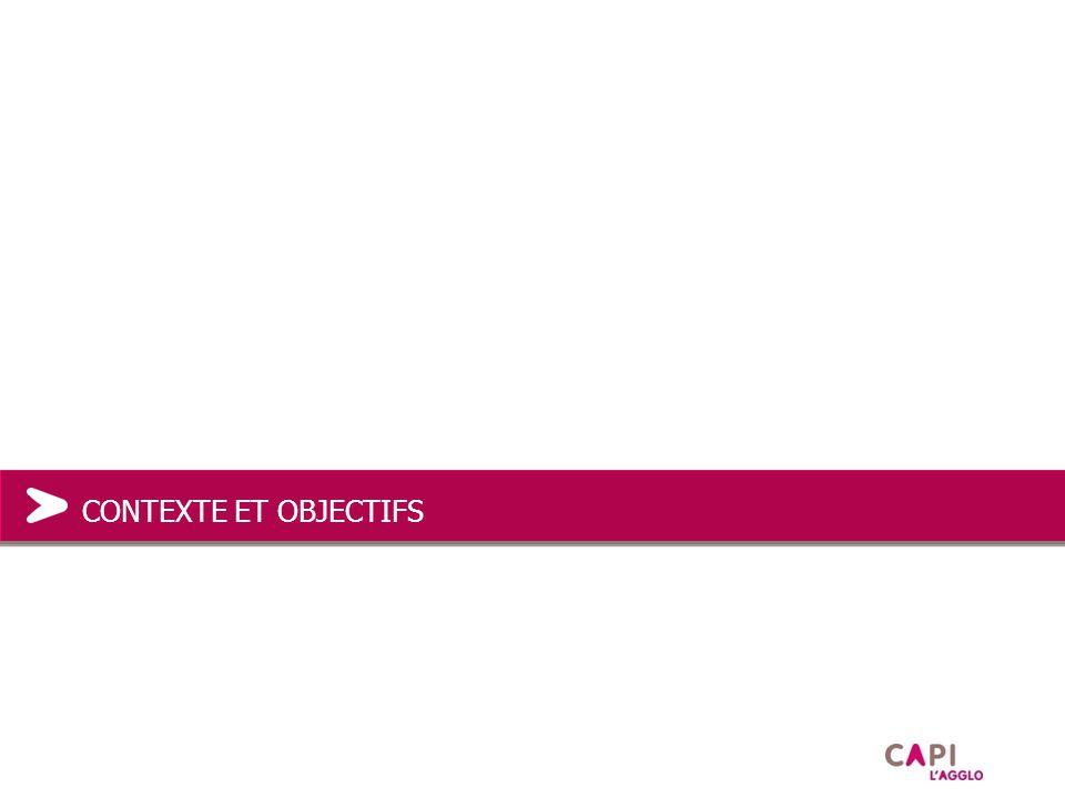 Contexte 2009 : engagement dans le GPRA (Grand Projet Rhône Alpes) 2010 : engagement dans une politique DD 2010 : engagement dans un PCET 2010/2011 : construction d'outils d'aide et d'incitation à l'intégration du DD dans les projets (grille DD, appel à projet,…) CONTEXTE ET OBJECTIFS