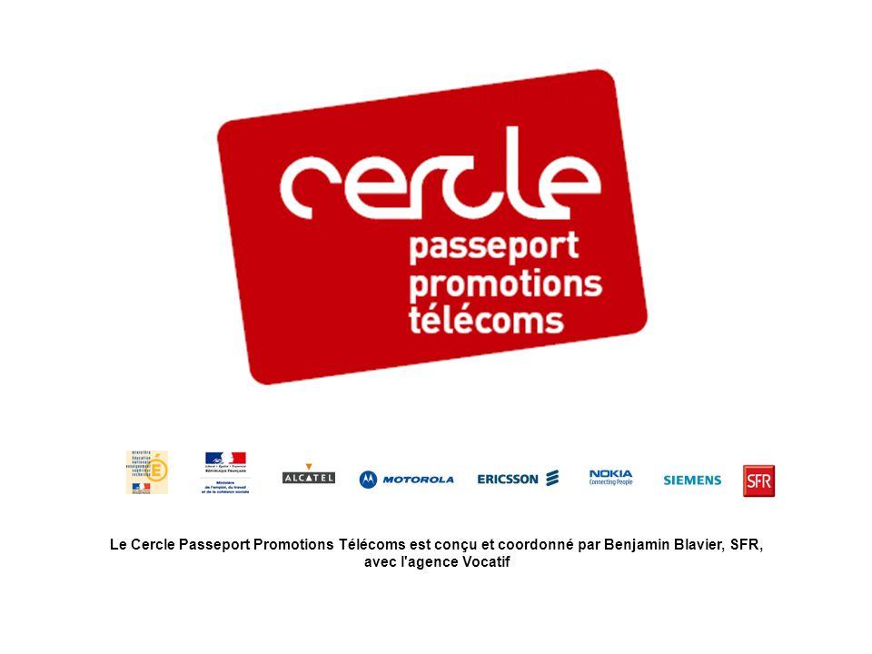 Le Cercle Passeport Promotions Télécoms est conçu et coordonné par Benjamin Blavier, SFR, avec l'agence Vocatif