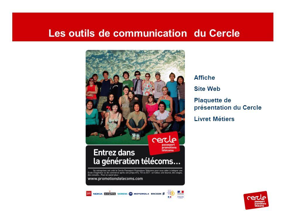 Affiche Site Web Plaquette de présentation du Cercle Livret Métiers Les outils de communication du Cercle