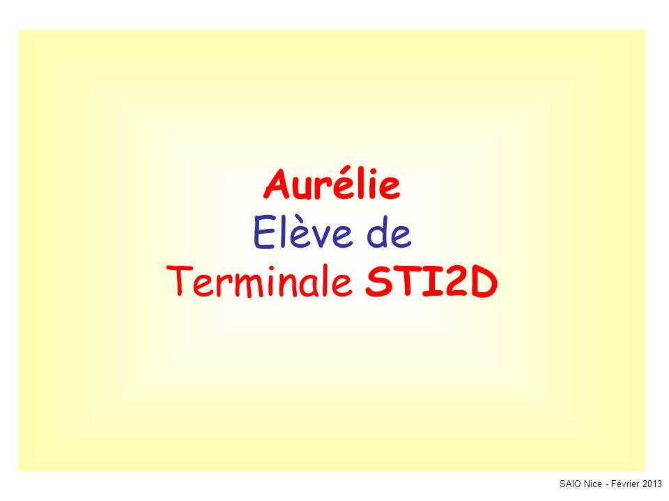 SAIO Nice - Février 2013 Aurélie Elève de Terminale STI2D