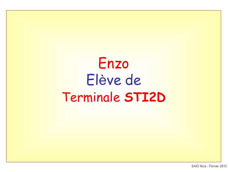 Enzo El è ve de Terminale STI2D SAIO Nice - Février 2013