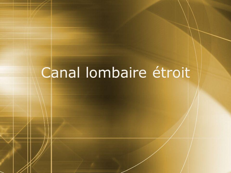 Canal lombaire étroit