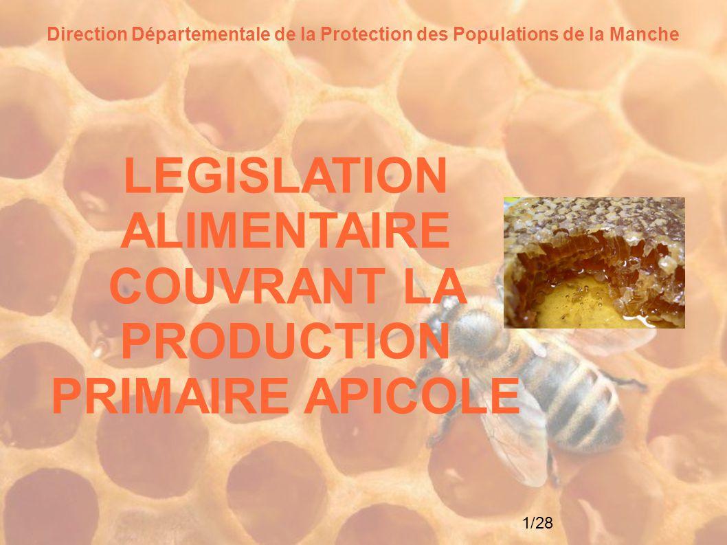2/28 La réglementation Règlement n°178/2002 du 28 janvier 2002 établissant les principes généraux et les prescriptions générales de la législation alimentaire, instituant l Autorité européenne de sécurité des aliments et fixant des procédures relatives à la sécurité des denrées alimentaires ( Règlement socle du Paquet Hygiène : définition analyse des risques, principe de précaution, responsabilités, traçabilité,...) Règlement n° 852/2004 du Parlement européen et du Conseil du 29 avril 2004 relatif à l hygiène des denrées alimentaires ( prescriptions d hygiène générale que doivent respecter les entreprises du secteur alimentaire à tous les stades de la chaîne alimentaire humaine Code rural et de la pêche maritime L arrête ministériel du 18 décembre 2009 relatif aux règles sanitaires applicables aux produits d origine animale et aux denrées alimentaires en contenant Code de la consommation Décret n°2003-587 du 30 juin 2003 pris pour l'application de l'article L.
