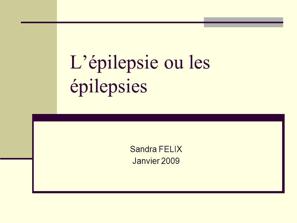 L'épilepsie ou les épilepsies Sandra FELIX Janvier 2009