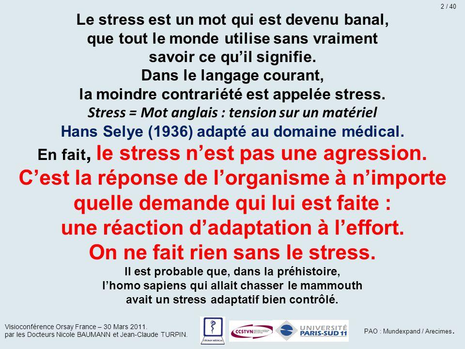 Le stress est un mot qui est devenu banal, que tout le monde utilise sans vraiment savoir ce qu'il signifie. Dans le langage courant, la moindre contr