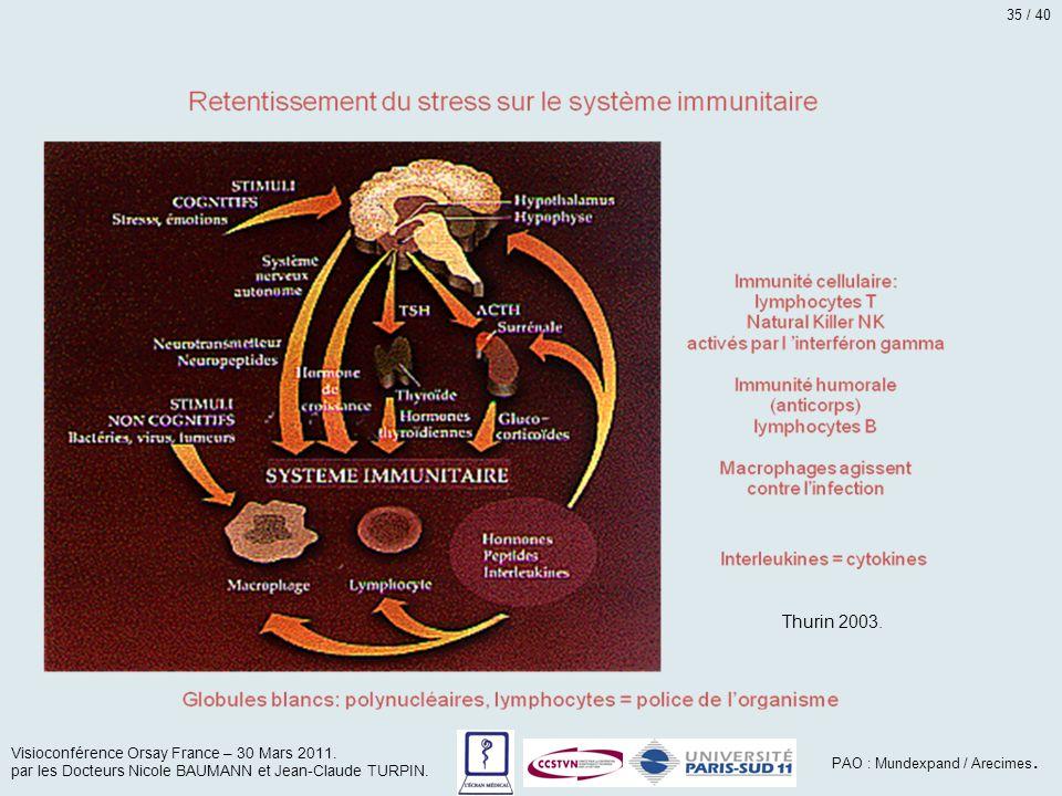 Thurin 2003. Visioconférence Orsay France – 30 Mars 2011. par les Docteurs Nicole BAUMANN et Jean-Claude TURPIN. PAO : Mundexpand / Arecimes. 35 / 40