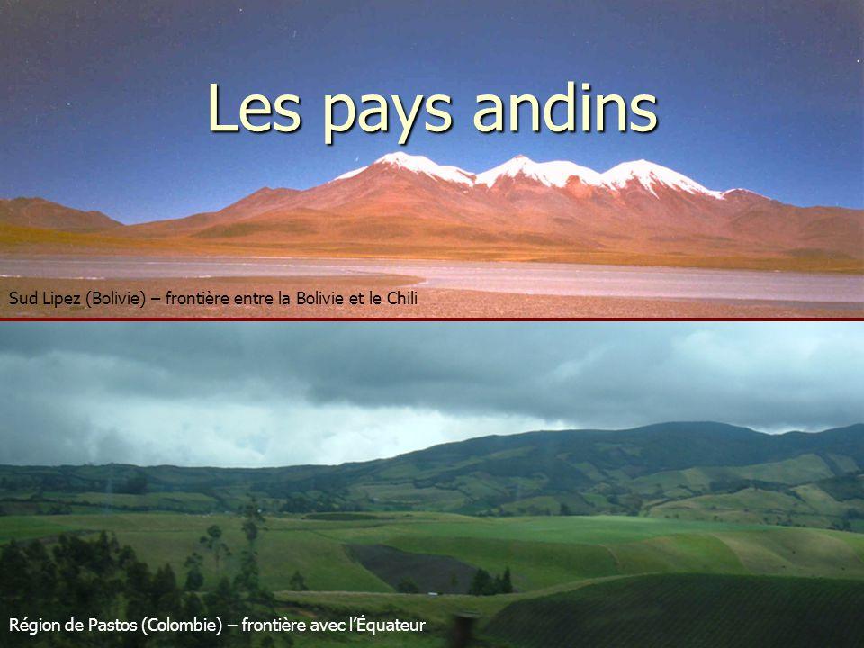 Les pays andins, plus dépendants des États-Unis Source : Mazurek, 2000, L'intégration des pays andins, entre volonté et réalités.