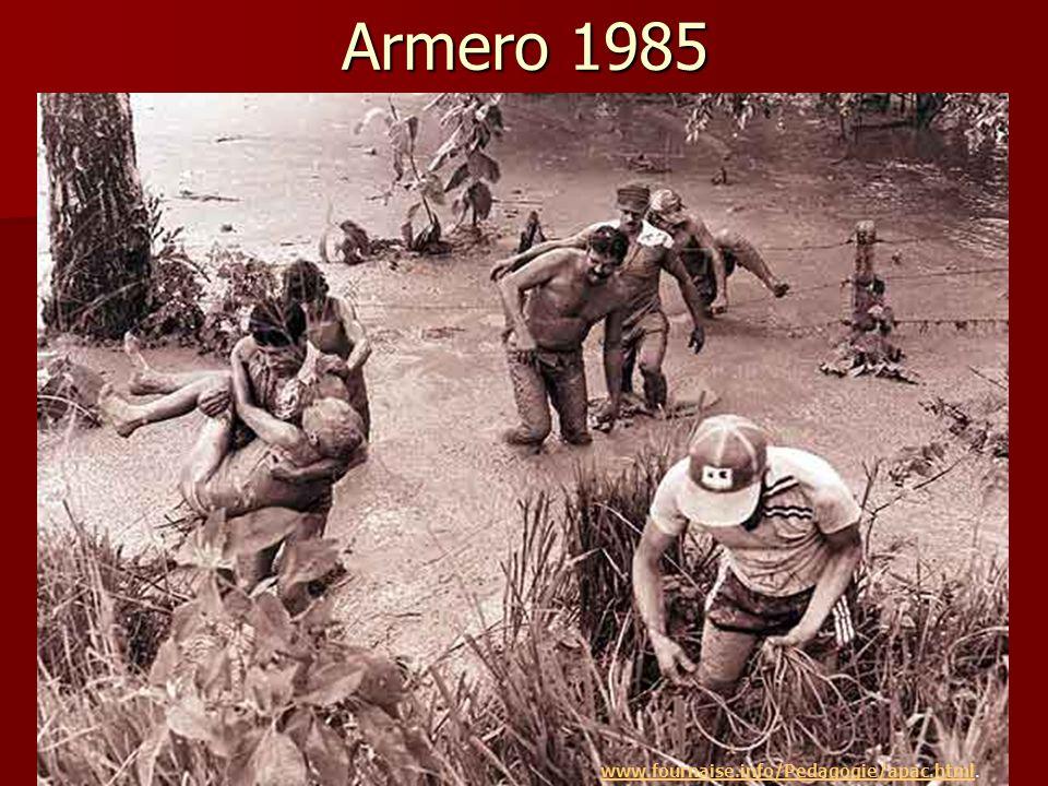  25 000 morts  60% des habitants du municipe d'Armero Armero 1985 www.fournaise.info/Pedagogie/apac.htmlwww.fournaise.info/Pedagogie/apac.html.
