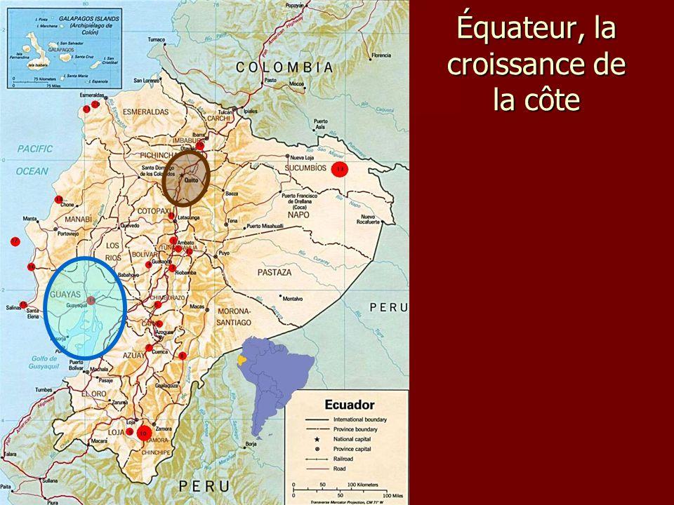 Équateur, la croissance de la côte