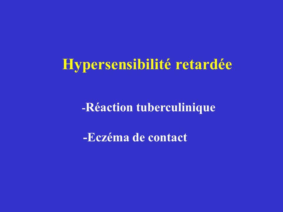 X Eczéma de contact > 5 % (Application d'un produit sur la peau) X Choc anaphylactique <1 % (aliments – venins – médicaments) Maladies allergiques (II